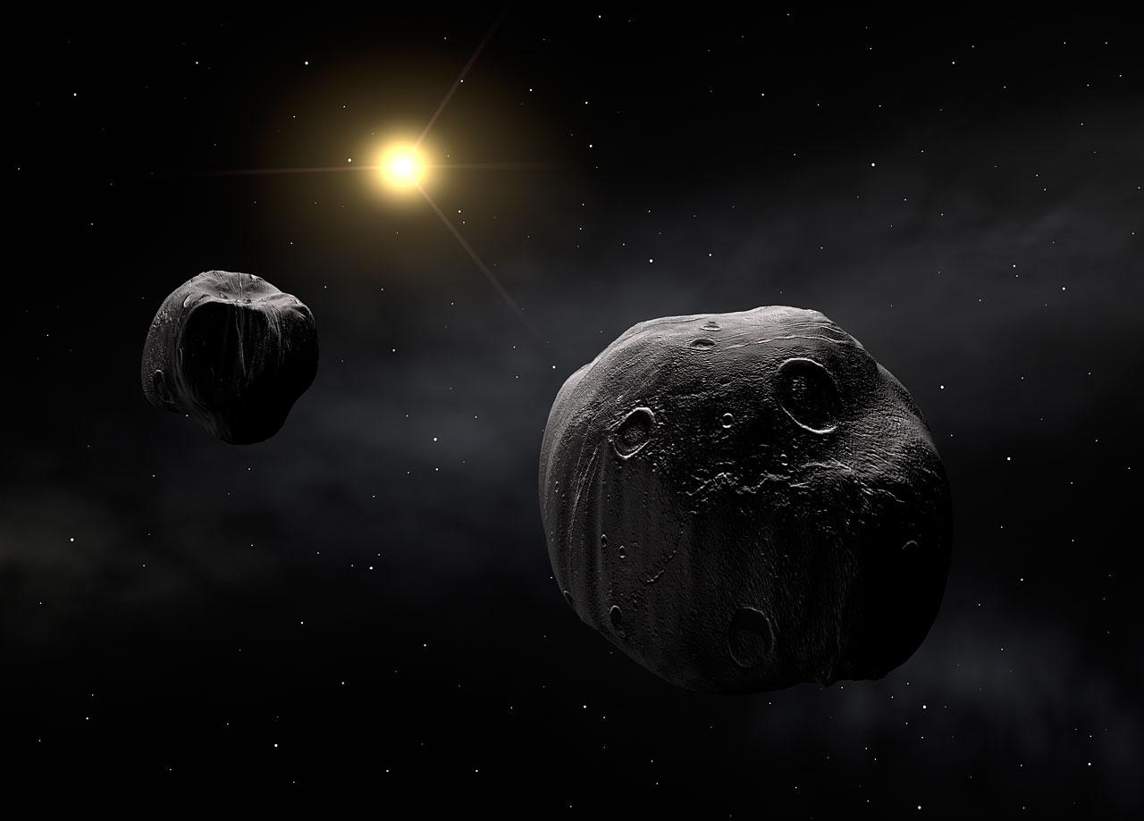 ორმაგი ასტეროიდი - მხატვრის წარმოსახვა